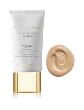 Maquillaje clonature invisible anti-edad de keenwell